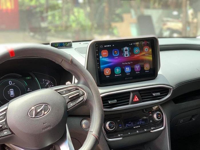 Màn hình DVD Bravigo xe Hyundai Santafe 2019