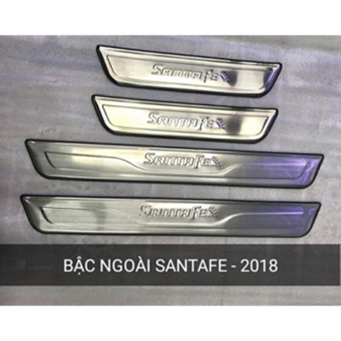 Chống trầy bậc cửa ngoài xe Santafe 2018