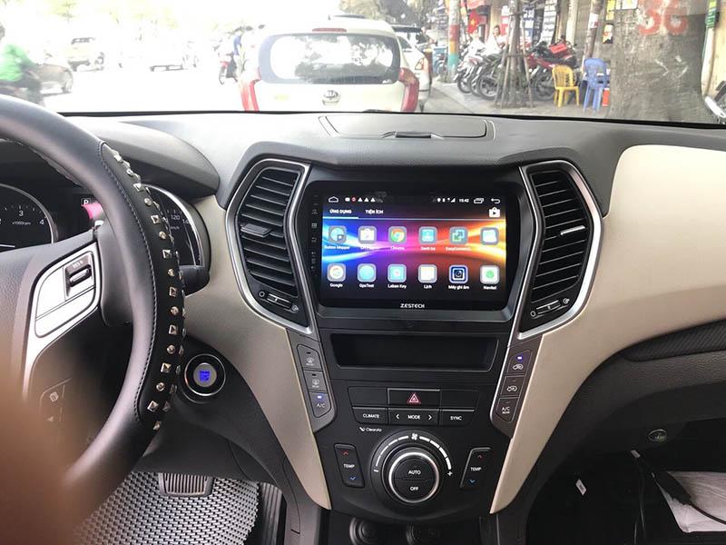 Màn hình Android Zestech theo xe Santafe 2018